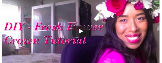 DIY - Fresh Flower Crown Video