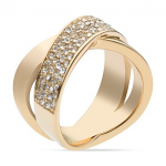 MK Gold Criss Cross Band Ring
