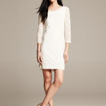 white ivory cocoon lace shift dress