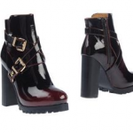 black leather boots booties silver buckles