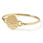 gold plated bracelet bangle with disk