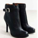 Jeffrey Campbell Belair black leather Heeled Ankle-Boot