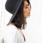 Urban Outfitters round top Black Brixton Count Hat