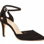 sole society black ankle strap pointed toe suede heel