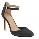 banana republic caelyn pump in black leather ankle strap heel