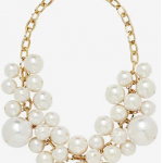 Express Large Faux Bauble Pearl Necklace