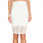 tularosa beau lace embroidered pencil skirt ivory white revolve clothing
