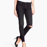 h&m ankle length Skinny fit black jeans