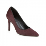 Nordstrom Charles David 'Kaso' Pump heels burgundy purple genuine calf hair