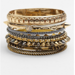 Nordstrom Natasha Couture gold mixed metal bangle set