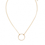 hm h and m h&m Narrow gold metal chain with a ring at front