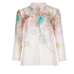 ted baker light pink ANNLA Wispy Meadow print blouse