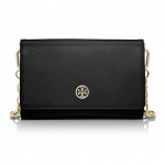 tory burch black robinson gold CHAIN WALLET