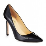 IVANKA TRUMP Carra Pointed-Toe black Leather Pumps