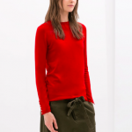 zara red cuffed sweater