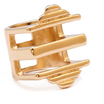 forever 21 cut out square top ring gold