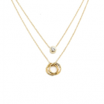 ily couture gold GOLD DAINTY CIRCLE AND DOT NECKLACE