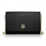tory burch black gold robinson CHAIN WALLET