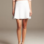 banana republic Seamed Ponte Mini white skirt