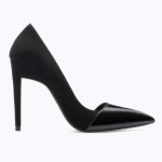 Zara Black Combined High Heel Court Shoe