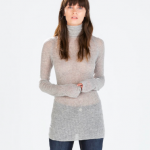 Zara Light Grey Ribbed Sweater