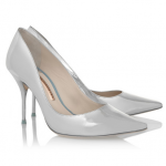 SOPHIA WEBSTER Lola mirrored-leather pumps silver shoes