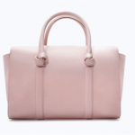 zara light pink Bowling bag with knots