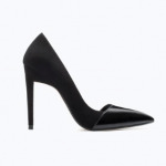 zara black combines high heel court shoes