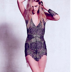 Free People FOR LOVE & LEMONS ANTIGUA MINI DRESS Black