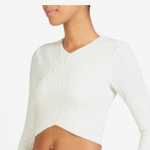 INTERMIX NICHOLAS EXCLUSIVE WHITE IVORY EMBOSSED CROP TOP