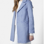 Nordstrom Topshop Blue 'Molly' Double Breasted Swing Coat