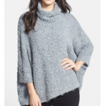 Nordstrom Chelsea28 Heather Grey Bouclé Poncho