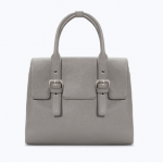 Zara Grey Buckled mini city bag