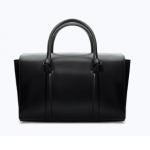 zara black Bowling bag with knots
