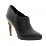Banana Republic Black Leather Afton Ankle Bootie