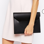 ASOS Jas MB Recycled Leather Clutch in Black