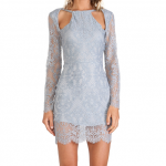 For Love and Lemons Powder Blue Lace ETERNAL LOVE DRESS Revolve Clothing