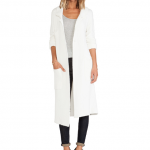 The Line and Dot White CHLOE LONG COAT Revolve Clothing