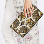 Urban Outfitters Gold Ecote Embellished Clutch