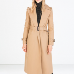 Zara Long Cotton TrenchCoat Camel