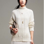 Banana Republic Cocoon Ivory White Mixed Cable-Knit Pullover
