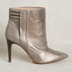 Anthropologie Silver Hoss Intropia Shimmered Booties