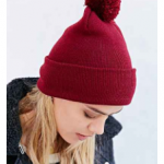 urban outfitters berry pom cuffed beanie
