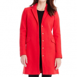Armani Exchange Red Stoplight SIDE ZIP WOOL COAT
