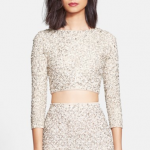 Nordstrom Alice + Olivia 'Lacey' Embellished Crop Top
