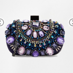 ASOS ALDO Beaded Box Clutch With Chain Shoulder Strap