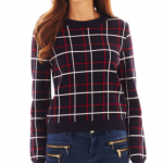 JCPenney MNG by Mango® Long-Sleeve Plaid Sweater