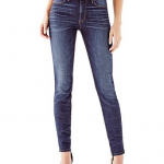 GUESS 1981 HIGH-RISE POWER SKINNY JEANS IN BACKDROP WASH