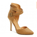 Daily Look Tan CRISSCROSS STRAP HEELS