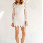 Urban Outfitters Cream Ecote Embellished Mesh Dress